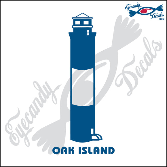 OAK ISLAND NORTH CAROLINA LIGHTHOUSE 6 INCH  DECAL