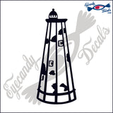 BALD HEAD NORTH CAROLINA LIGHTHOUSE 6 INCH  DECAL