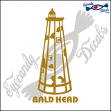 BALD HEAD NORTH CAROLINA with NAME LIGHTHOUSE 6 INCH  DECAL
