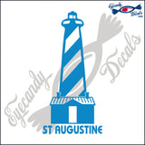 ST AUGUSTINE FLORIDA with NAME LIGHTHOUSE 6 INCH  DECAL