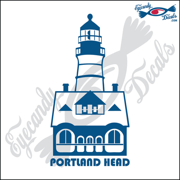 PORTLAND HEAD MAINE with NAME LIGHTHOUSE 6 INCH  DECAL