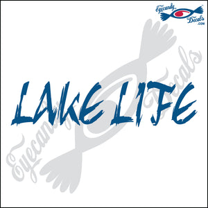 LAKELIFE SCRIBBLED 6 INCH  DECAL