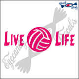LIVE LIFE VOLLEYBALL 10 INCH  DECAL