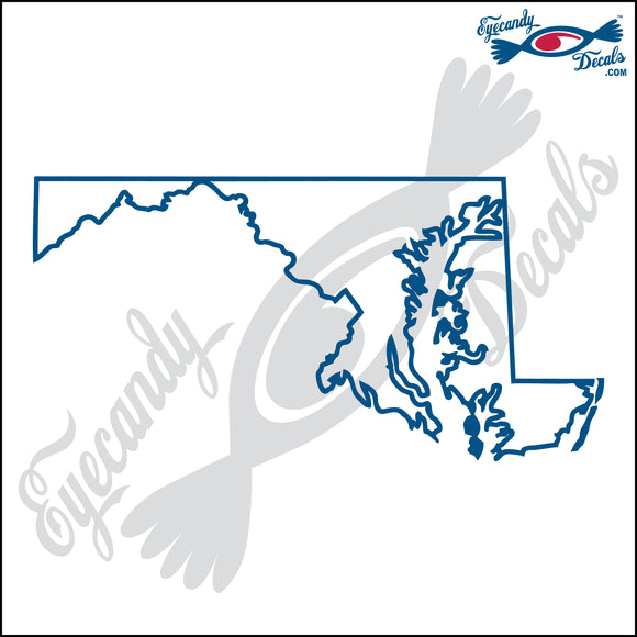 MARYLAND STATE OUTLINE 6 INCH  DECAL