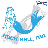MERMAID with ROCKHALL MARYLAND 6 INCH  DECAL