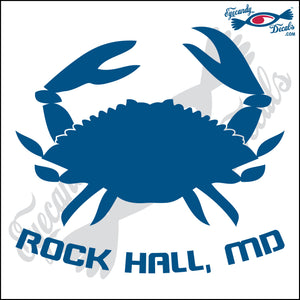 CRAB with ROCKHALL MARYLAND 6 INCH  DECAL