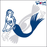 "MERMAID  6""  DECAL"