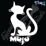 "MOJO THE CAT 6"" DECAL"
