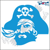 "PIRATE HEAD 6"" DECAL"