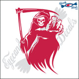 "GRIM REAPER 6"" DECAL"
