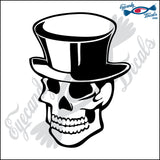 "SKULL IN TOPHAT 6"" DECAL"