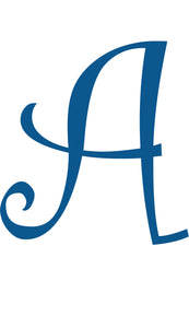 A -  MONOGRAM LETTER DECAL