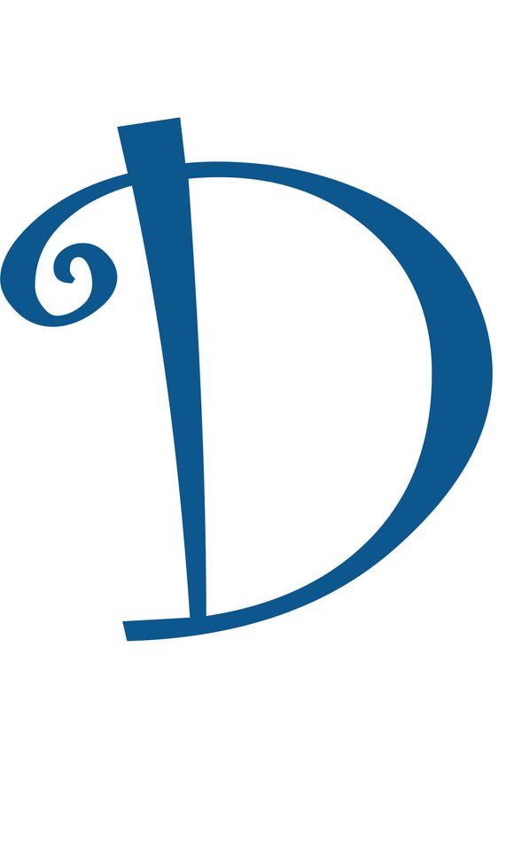 D -  MONOGRAM LETTER DECAL
