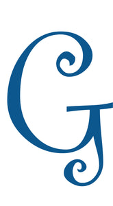 G -  MONOGRAM LETTER DECAL
