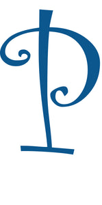 P -  MONOGRAM LETTER DECAL