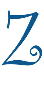 Z -  MONOGRAM LETTER DECAL
