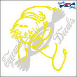 "MANATEE 2   5""  DECAL"