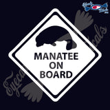 "MANATEE ON BOARD   5""  DECAL"