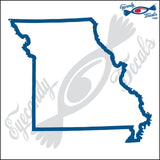 MISSOURI STATE OUTLINE 6 INCH  DECAL