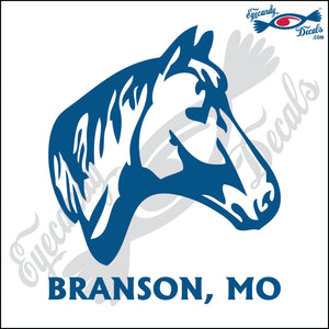 HORSE HEAD with BRANSON MISSOURI 6 INCH  DECAL