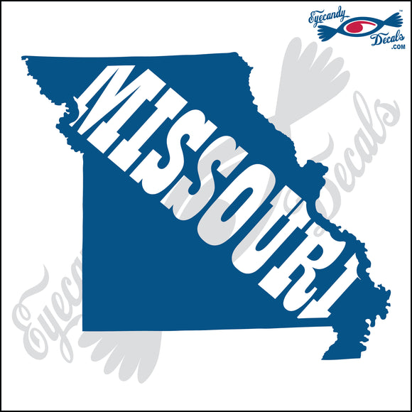 MISSOURI STATE SHAPE WITH MISSOURI TEXT  6