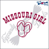 MISSOURI GIRL OVER SANDALS 6 INCH  DECAL