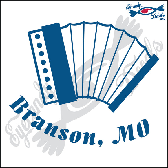 ACCORDIAN with BRANSON MISSOURI 6 INCH  DECAL