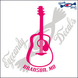 GUITAR with BRANSON MISSOURI 6 INCH  DECAL