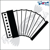"ACCORDIAN 5"" DECAL"