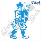 "MAN PLAYING BAG PIPES 6"" DECAL"