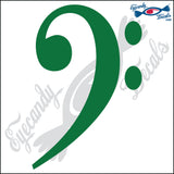 "BASS CLEFF MUSIC NOTE 6"" DECAL"