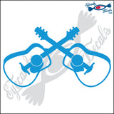 "GUITARS CROSSED 6"" DECAL"