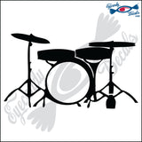 "DRUM SET 6"" DECAL"