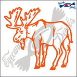 "MOOSE STANDING  5""  DECAL"