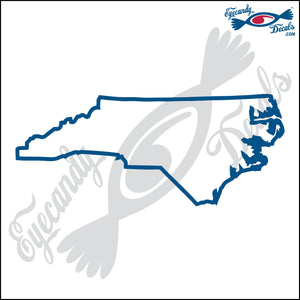 NORTH CAROLINA STATE OUTLINE 6 INCH  DECAL