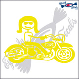 MOTORCYCLE WOMAN with OBX NORTH CAROLINA 6 INCH  DECAL