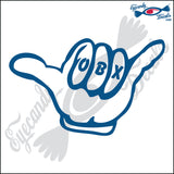 HANG LOOSE with OBX NORTH CAROLINA 6 INCH  DECAL