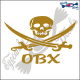JOLLY ROGER with OBX NORTH CAROLINA 6 INCH  DECAL