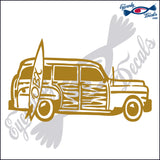 SURF WOODY with OBX NORTH CAROLINA 6 INCH  DECAL
