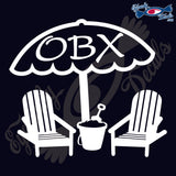 BEACH CHAIR with OBX NORTH CAROLINA 6 INCH  DECAL