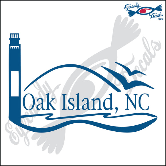 OAK ISLAND LIGHTHOUSE SCENE NORTH CAROLINA 6 INCH  DECAL