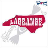 NORTH CAROLINA SHAPE with LAGRANGE 6 INCH  DECAL