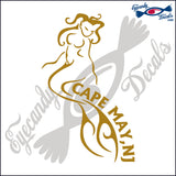 TRIBAL MERMAID with CAPE MAY NEW JERSEY 6 INCH  DECAL