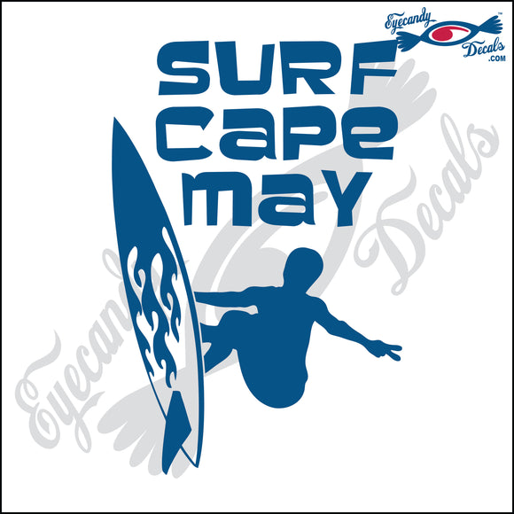 SURF CAPE MAY NEW JERSEY 6 INCH  DECAL