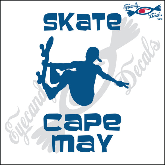SKATE CAPE MAY NEW JERSEY 6 INCH  DECAL
