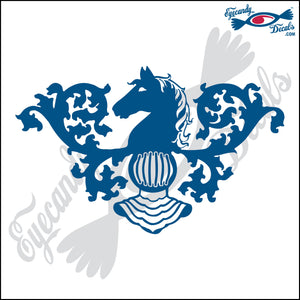 NEW JERSEY STATE SYMBOL HORSE HEAD 6 INCH  DECAL