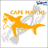 SHARK with CAPE MAY NEW JERSEY 6 INCH  DECAL
