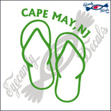 SANDALS with CAPE MAY NEW JERSEY 6 INCH  DECAL