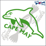 DOLPHIN with CAPE MAY NEW JERSEY 6 INCH  DECAL