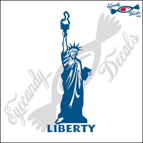 STATUE OF LIBERTY with LIBERTY  NEW YORK 6 INCH  DECAL